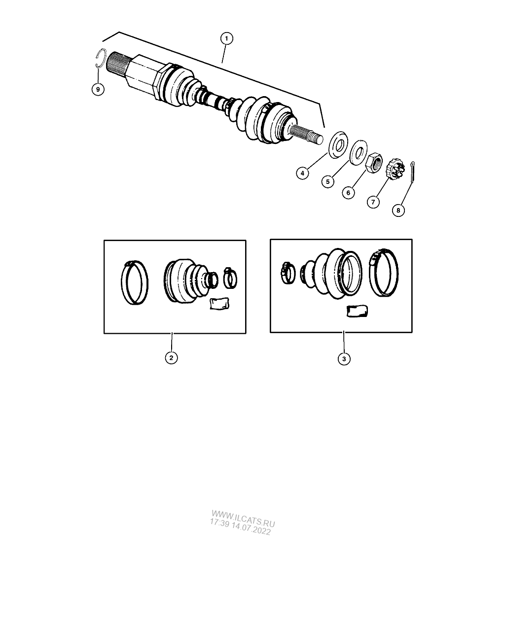 ВАЛ , FRONT DRIVE CHRYSLER CARAVAN, VOYAGER, (TOWN & COUNTRY)