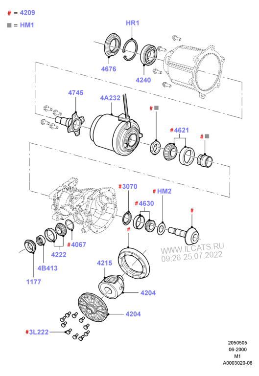 Components - Rear Axle Diff & Carr  (Interior Environment )(from