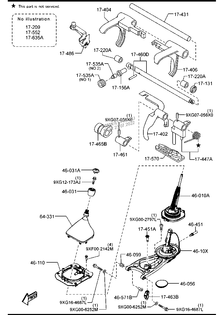 MANUAL TRANSMISSION CHANGE CONTROL SYSTEM (4X2)(5-SPEED