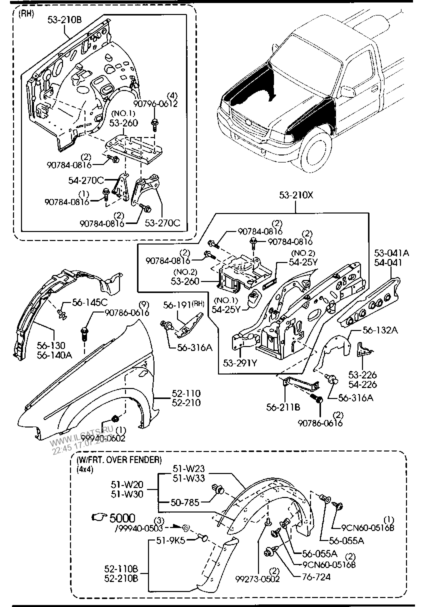 Fender Cd 100 12 Auto Electrical Wiring Diagram Hydraulic Schematics Schematic M983 W O Wheel Apron Panels Mazda B2500
