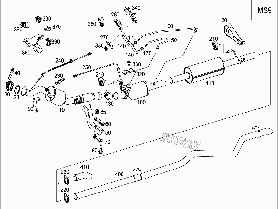EXHAUST SYSTEM FOR FOUR-CYLINDER DIESEL VEHICLES MERCEDES