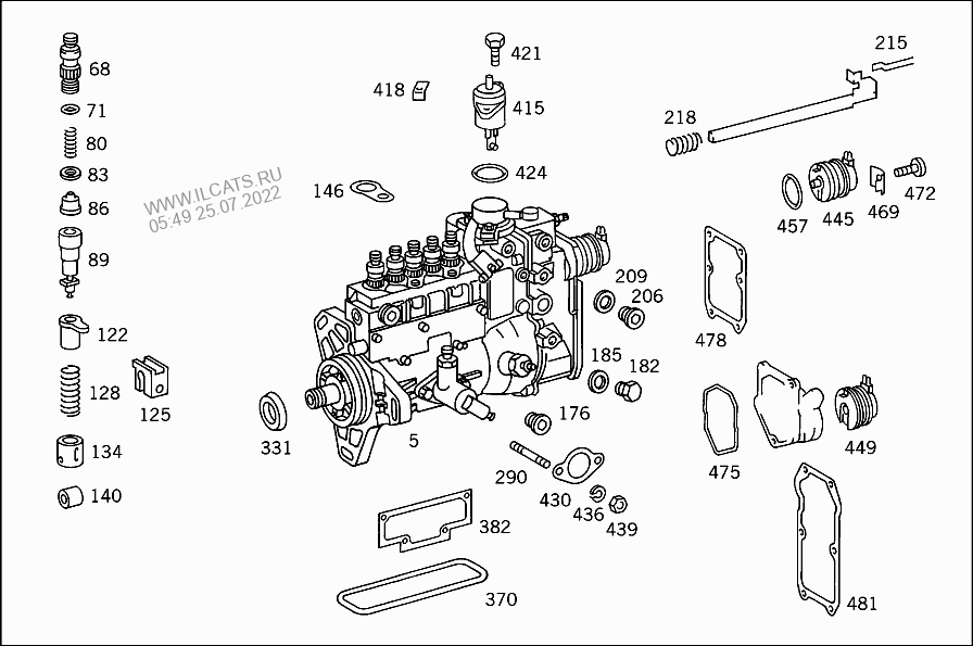 INJECTION PUMP MERCEDES OM 602 A&(602961)