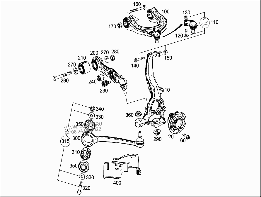 STEERING KNUCKLE AND CONTROL ARM MERCEDES SL 500&(231473)