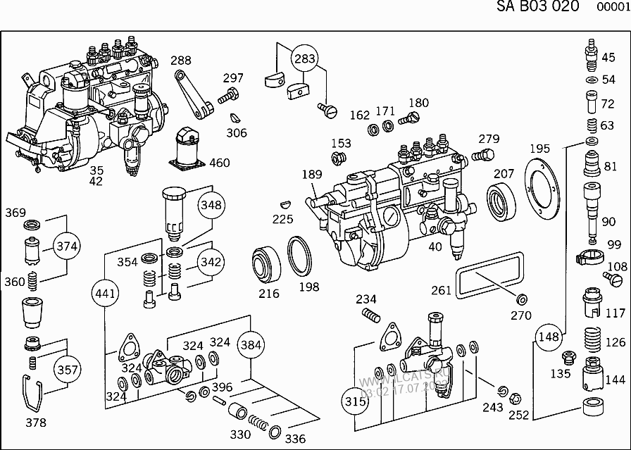 INJECTION PUMP WITH GOVERNOR MERCEDES OM 314&(343919014)