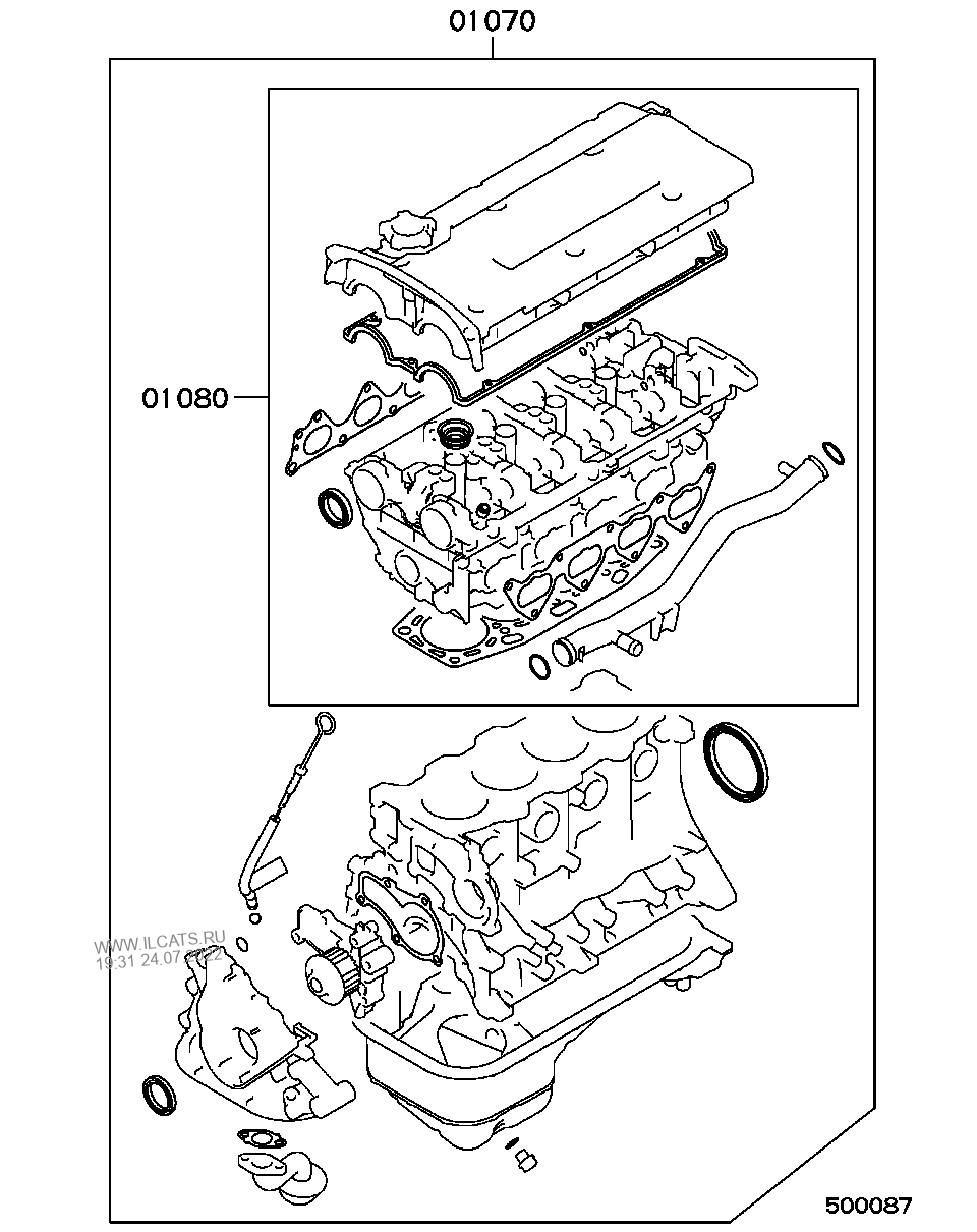 Japanese Mitsubishi Engine Diagram