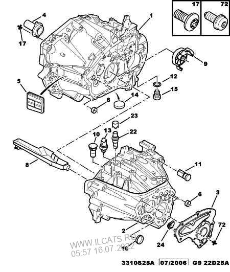 engine clutch housing manual gearbox PEUGEOT EXPERT 3