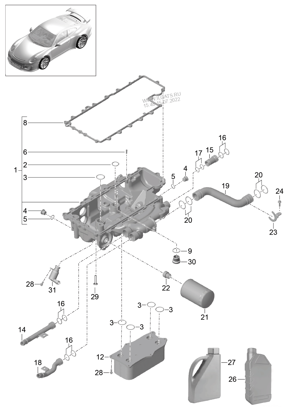 porsche 991 engine diagram oil filter console porsche 991 r gt3 gt3  oil filter console porsche 991 r gt3