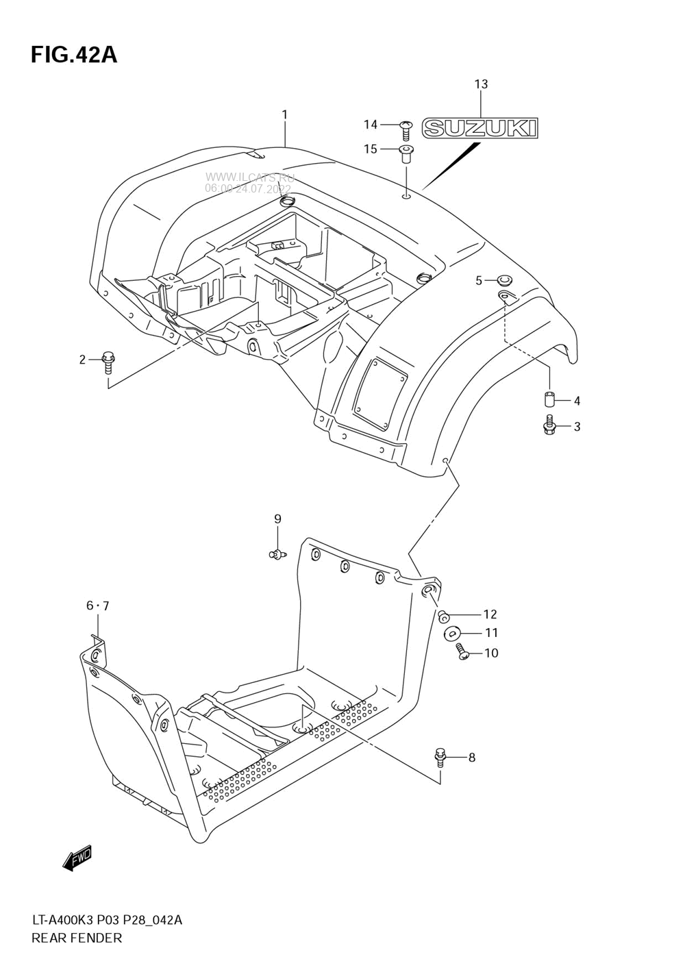 Suzuki atv parts diagram