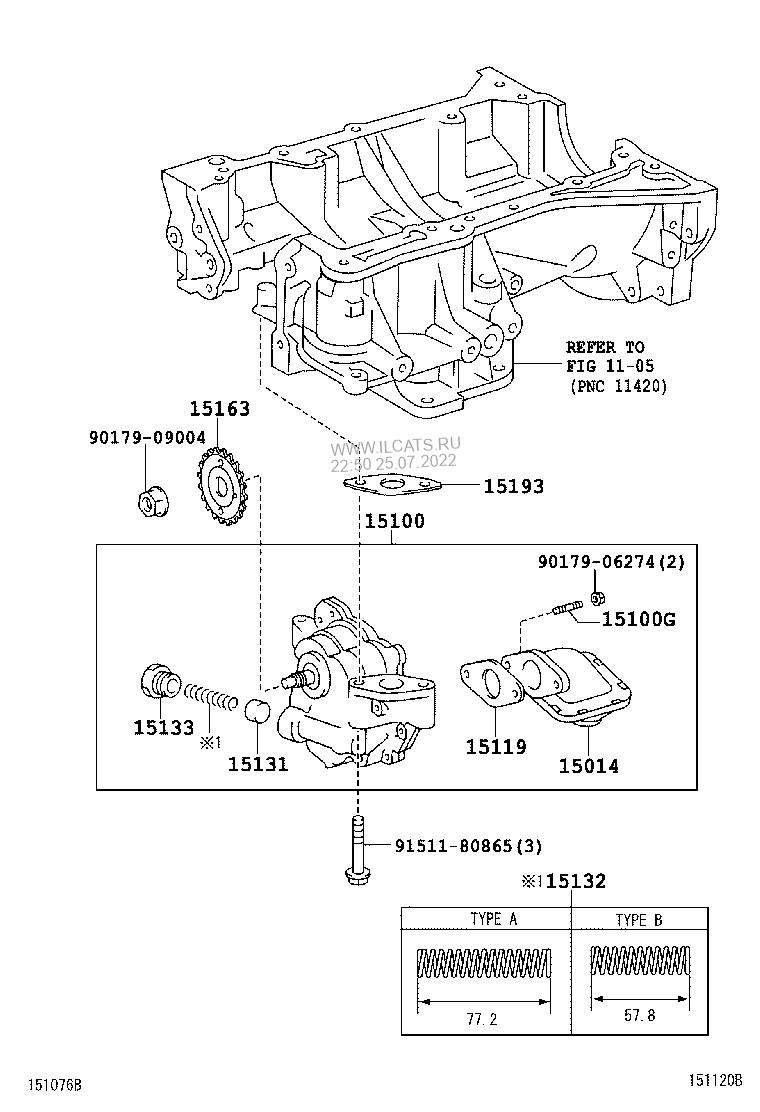 Engine Oil Pump Toyota Camry Hybrid Asianbsp283310 Diagram Select Parts
